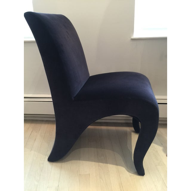 "Dialogica Navy Blue ""Splash"" Chair For Sale - Image 5 of 8"