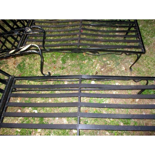 Black 1960s Mid-Century Modern Iron Woodard Outdoor Chaise Lounges - a Pair For Sale - Image 8 of 9