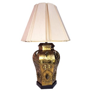 Vintage Asian Style Brass Lamp For Sale