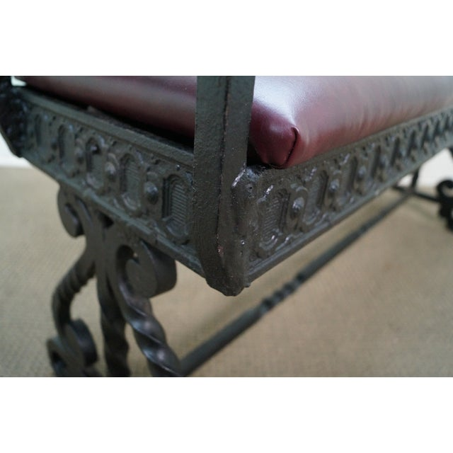 Antique 19th Century Iron Renaissance Bench For Sale - Image 9 of 10