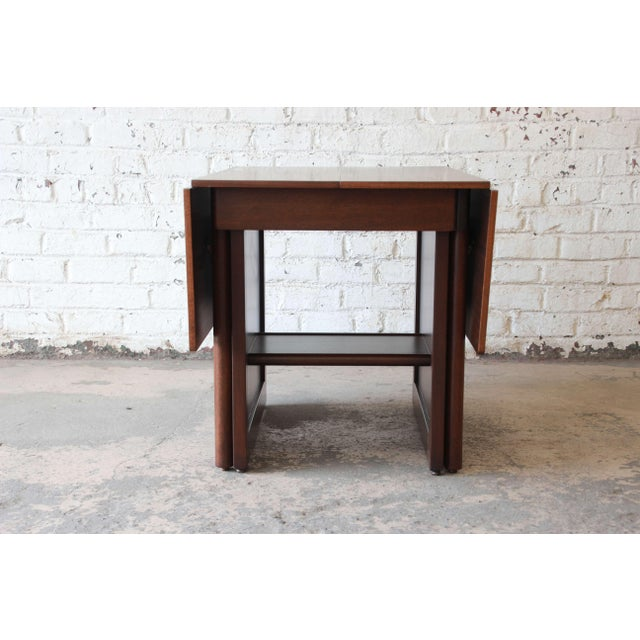 Large Edward Wormley for Dunbar Mahogany Extension Dining Table For Sale - Image 10 of 13