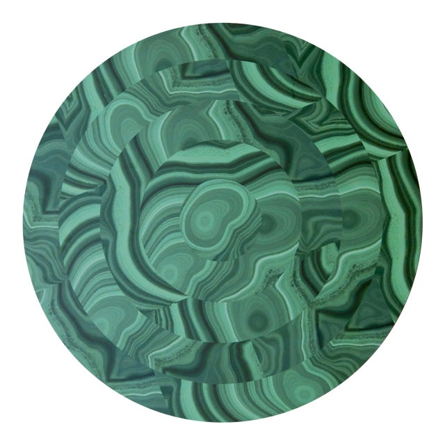 Malachite Placemat in Green For Sale