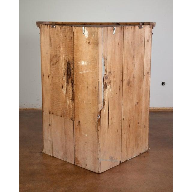Antique Pine Hanging Corner Cupboard - Image 4 of 5