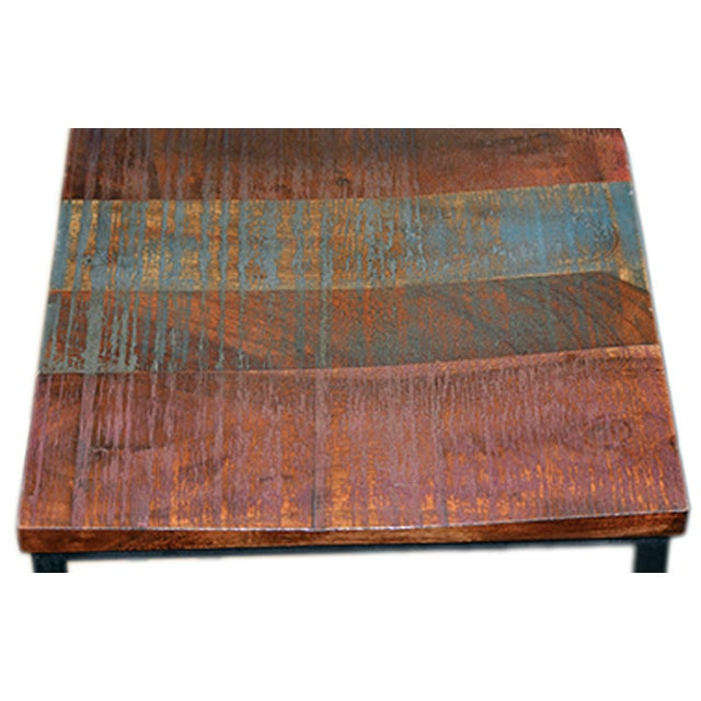 Reclaimed wood iron bar stool chairish for Buy reclaimed wood los angeles