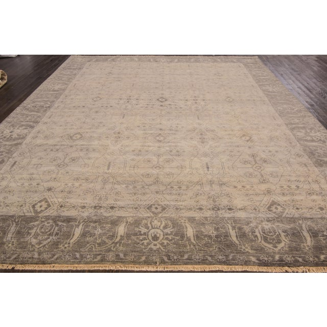 """Textile Modern Oushak Rug- 9'10"""" x 13'8"""" For Sale - Image 7 of 7"""