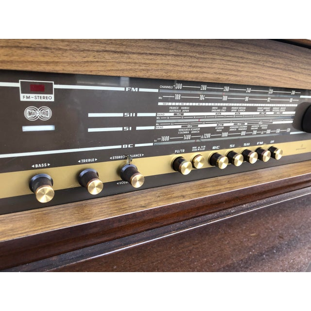 Oxblood Red Mid Century Fully Restored Ks650u Grundig Record Credenza For Sale - Image 8 of 13