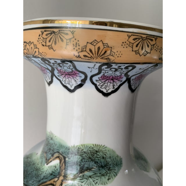 Mid 20th Century Vintage Famille Chinese Porcelain Vase For Sale - Image 10 of 13
