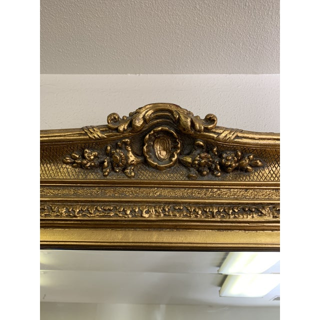 Louis XIV Style Gold Leaf Beveled Glass Mirror For Sale In Denver - Image 6 of 11