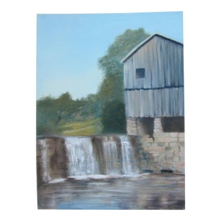 Acrlic Painting of a Barn