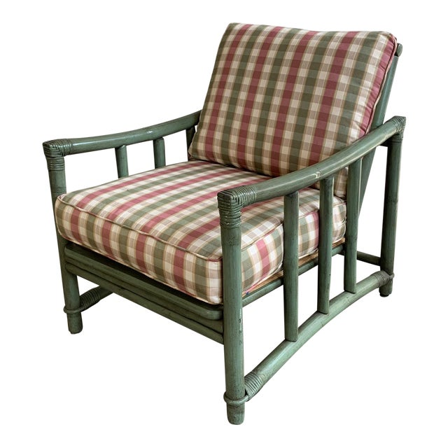 Ficks Reed Rattan Patio Arm Chair For Sale