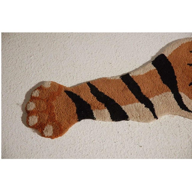 Vintage Wool Tiger Rug - Image 4 of 6