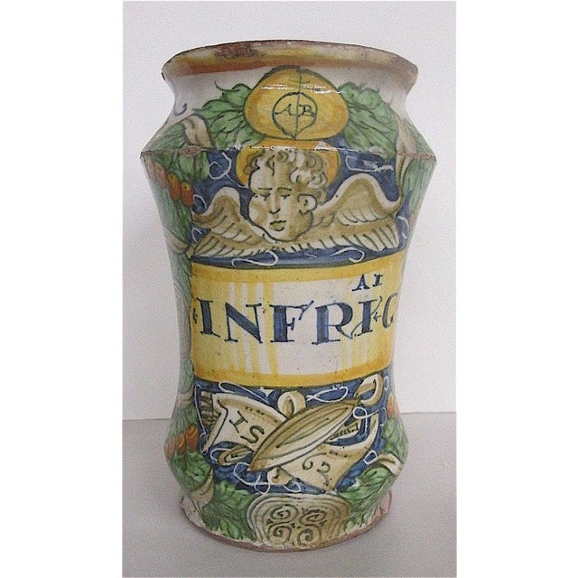 16th C. Italian Majolica Albarello Pharmacy Jar - Image 2 of 11