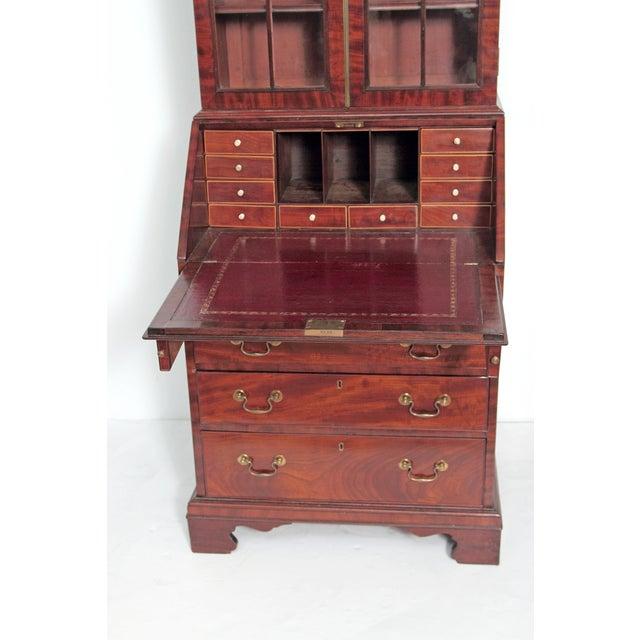 Period George III Secretary Bookcase of Mahogany For Sale - Image 10 of 11