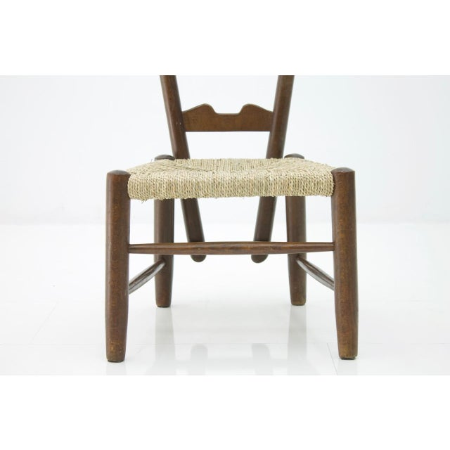 Mid-Century Modern Gio Ponti Fire Side Chair, Italy, 1939 For Sale - Image 3 of 11