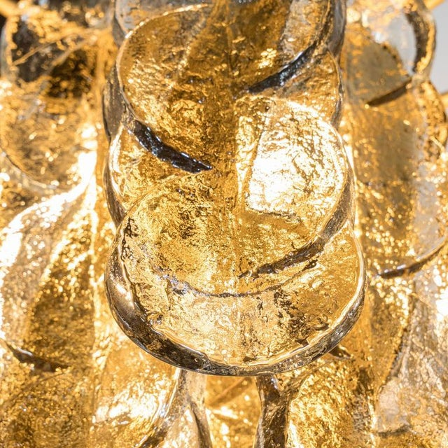 Brass Murano Glass Chandelier Designed by J.T. Kalmar of Austria, Fabricated by Seguso For Sale - Image 7 of 9
