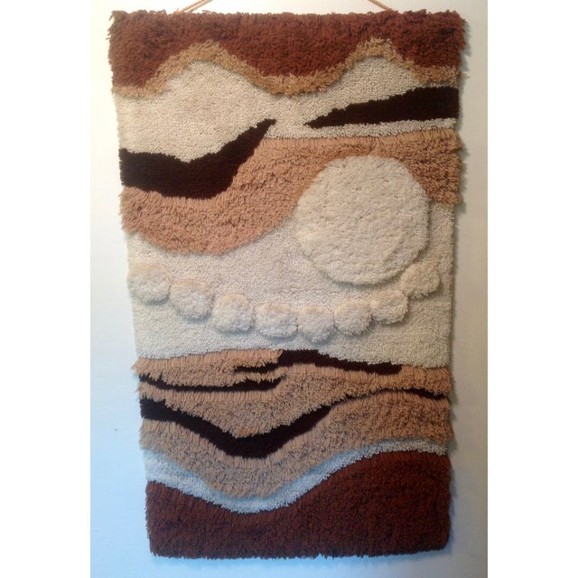 Danish Modern Wool Rya Hand Knotted Textile - Image 2 of 7