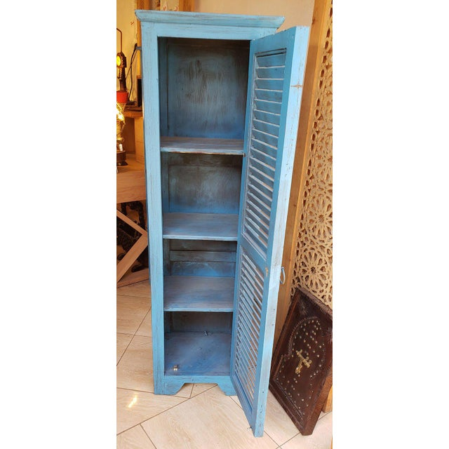 Moroccan Moroccan Carved Storage Cabinet For Sale - Image 3 of 7