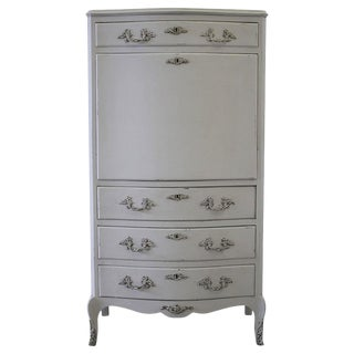 20th Century French Country Painted Drop Front Secretaire With Ormolu Mounts For Sale