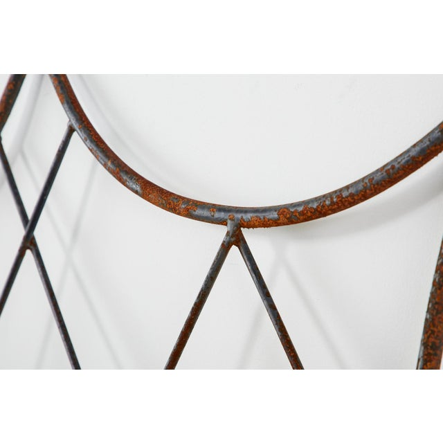 Pair of Regency Style Iron and Bronze Headboards For Sale - Image 11 of 13