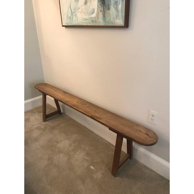 Vintage Primitive Long Handmade Bench For Sale - Image 9 of 9