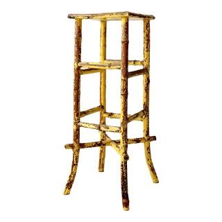 Antique Bamboo Plant Stand For Sale
