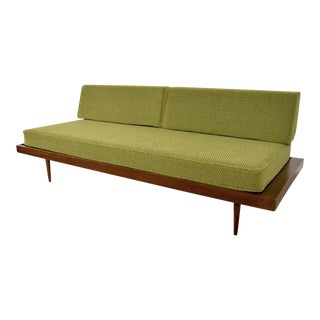 Vintage Mid Century Modern Nelson Style Green Daybed Sofa