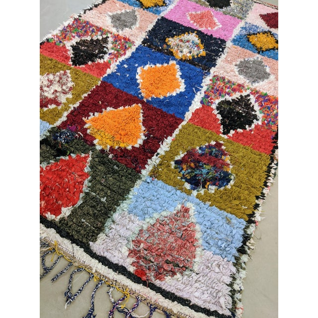 Vintage Moroccan Boucherouite Rug For Sale In Chicago - Image 6 of 8