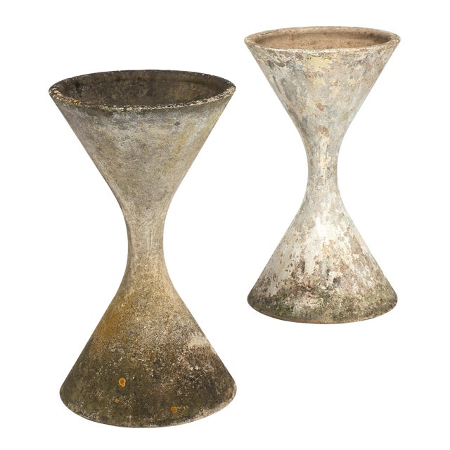 1950s Mid-Century Jardinieres by Willy Guhl - a Pair For Sale