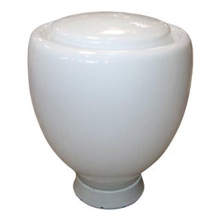 Claudio Salocchi Milk Glass Table Lamp For Sale