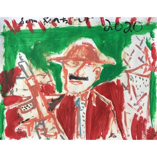 'Conquistador' Painting on Paper by Sean Kratzert For Sale
