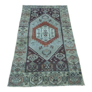 1980s Vintage Turkish Oushak Rug - 5′6″ × 2′11″ For Sale