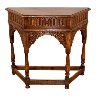 19th C. English Canted Table For Sale