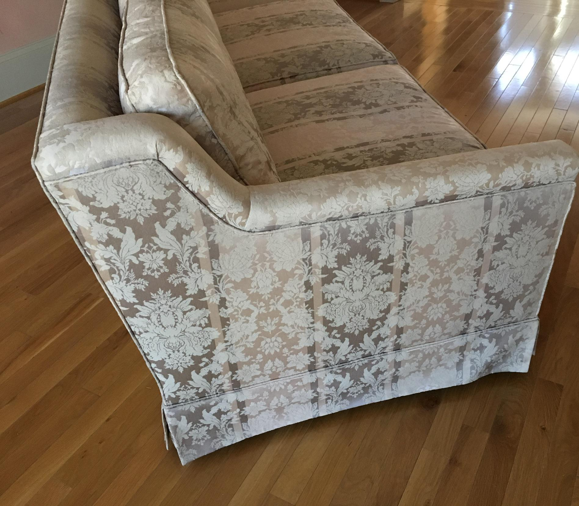 Saladino For Baker Furniture Silk Cotton Sofa Chairish