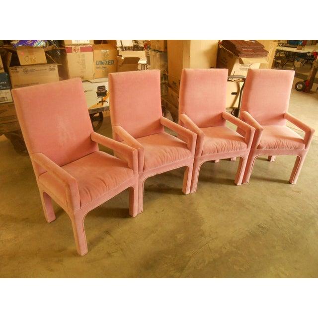 Parsons Dining Chairs in Desert Rose Velvet - Set of 4 - Image 2 of 4
