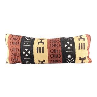 Clay Mudcloth Large Lumbar Pillow For Sale