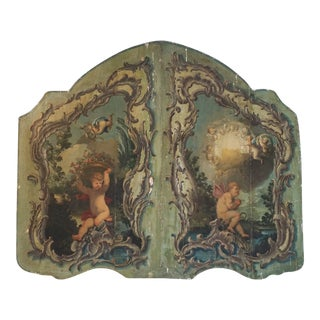 Antique French Rococo Cherub Boiserie Panel For Sale