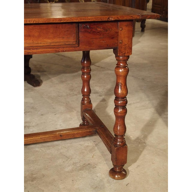 Traditional Antique Cherry and Walnut Wood Side Table, 18th Century For Sale - Image 3 of 12
