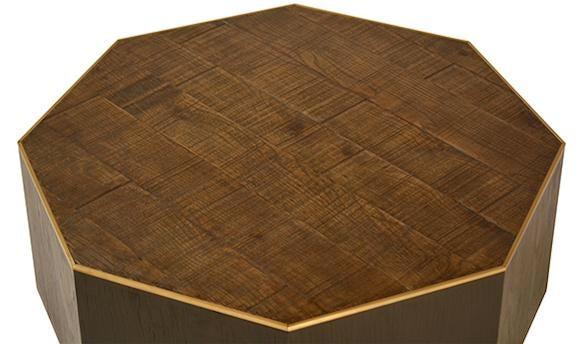 Bon Wood U0026 Brass Octagon Coffee Table   Image 2 ...