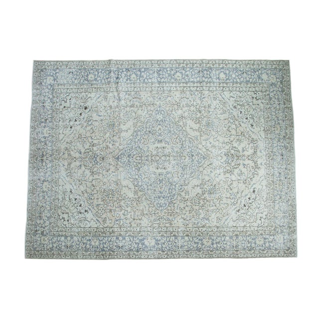 "Distressed Oushak Carpet - 9'4"" X 12'2"" - Image 1 of 10"