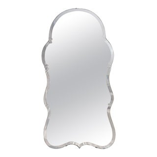 English Midcentury Queen Anne Style Mirror For Sale