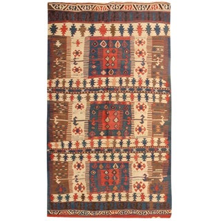 Exceptional Rare Antique 19th Century Turkish Kilim For Sale