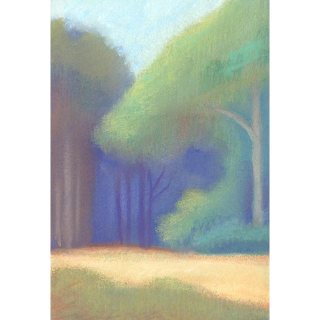 """Impressionism """"Legion of Honor Museum View Towards Sf Bay"""" Landscape Pastel Drawing For Sale - Image 3 of 4"""