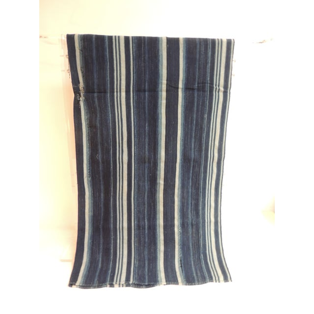 Vintage Yoruba and Baulé Warp Ikat Cloth. West Africa vintage Yoruba and Baulé warp ikat. Ikat is the process whereby...
