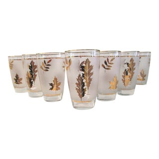 Mid-Century Libby Fall Foliage Glasses - Set of 7 For Sale