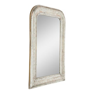 Late 19th Century Vintage Louis Philippe Silvered Mirror For Sale