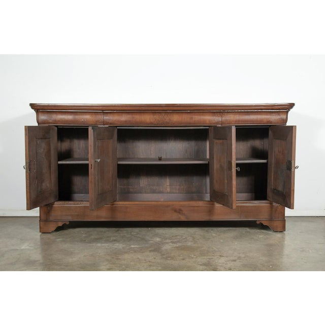 French 19th Century French Louis Philippe Enfilade Buffet With Bookmatched Front For Sale - Image 3 of 11