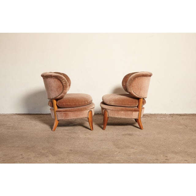 Pair of Otto Schulz 'Schultz' Easy Chairs, Sweden, 1940s-1950s For Sale - Image 9 of 11