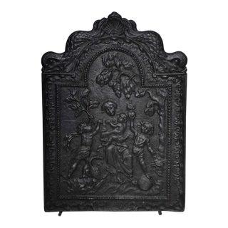 "17th c. Rare Antique Fireback Displaying ""Caritas"" For Sale"