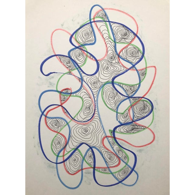 1991 Atomic Drawing by William Glen Davis For Sale In Greenville, SC - Image 6 of 6