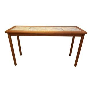 Mobelfabrikket Mid-Century Danish Modern Ceramic Tile Top Console Table